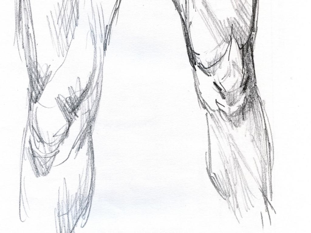 ひざの素描