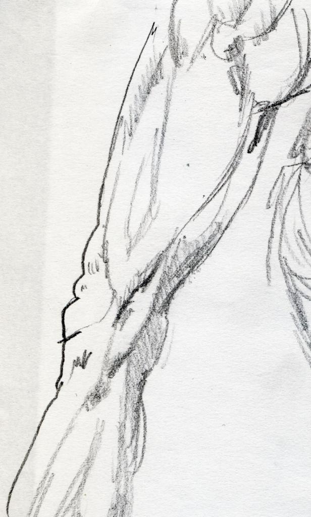 ひざ横の素描