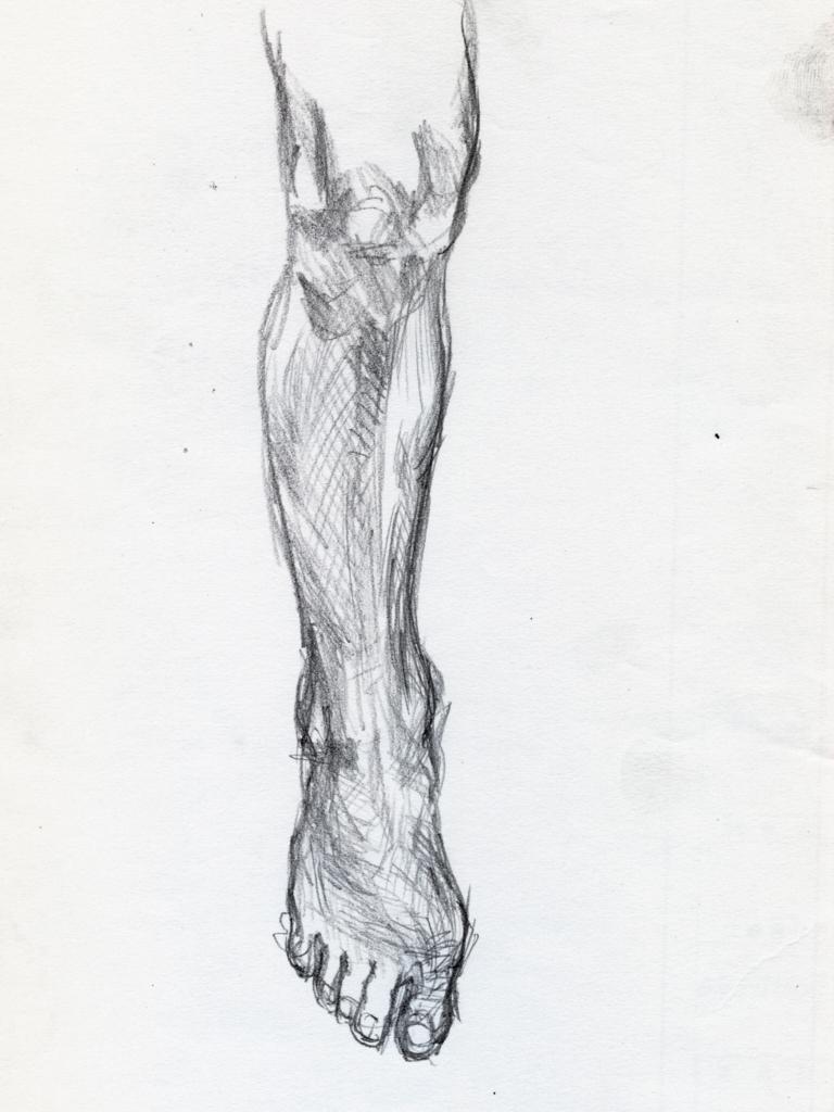 ドラクロワの足の素描の模写