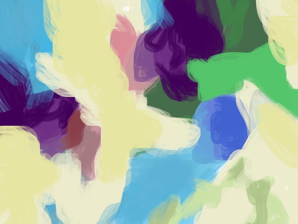 青の色ぬり絵