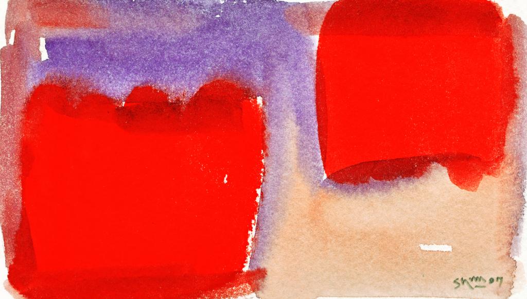 赤い色ぬり絵の作品画像