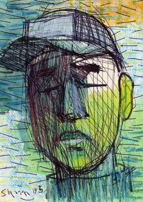 頭の素描画