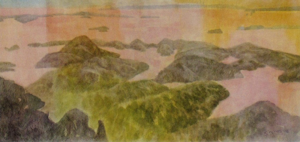 日本三景松島の水彩画作品