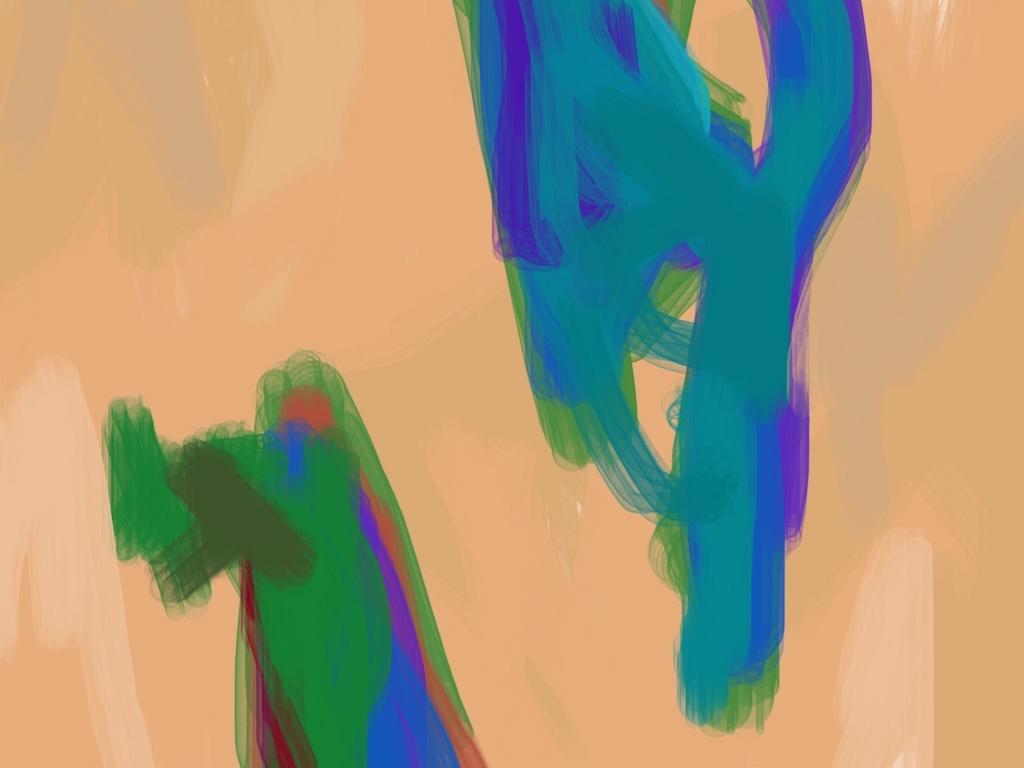 肌色の色ぬり絵作品
