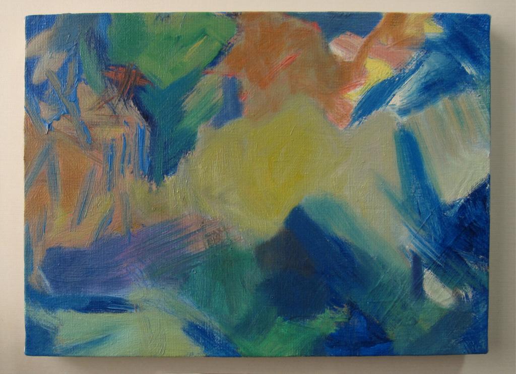 青い色ぬり絵作品画像