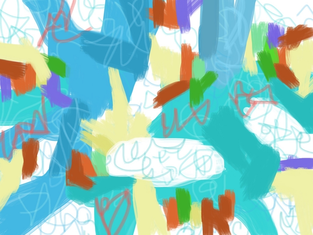 水色の色ぬり絵作品