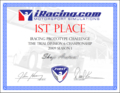 iRacing.com Award for 1st place in Prototype Challenge Time Trial Division 6 Championship 2009 s