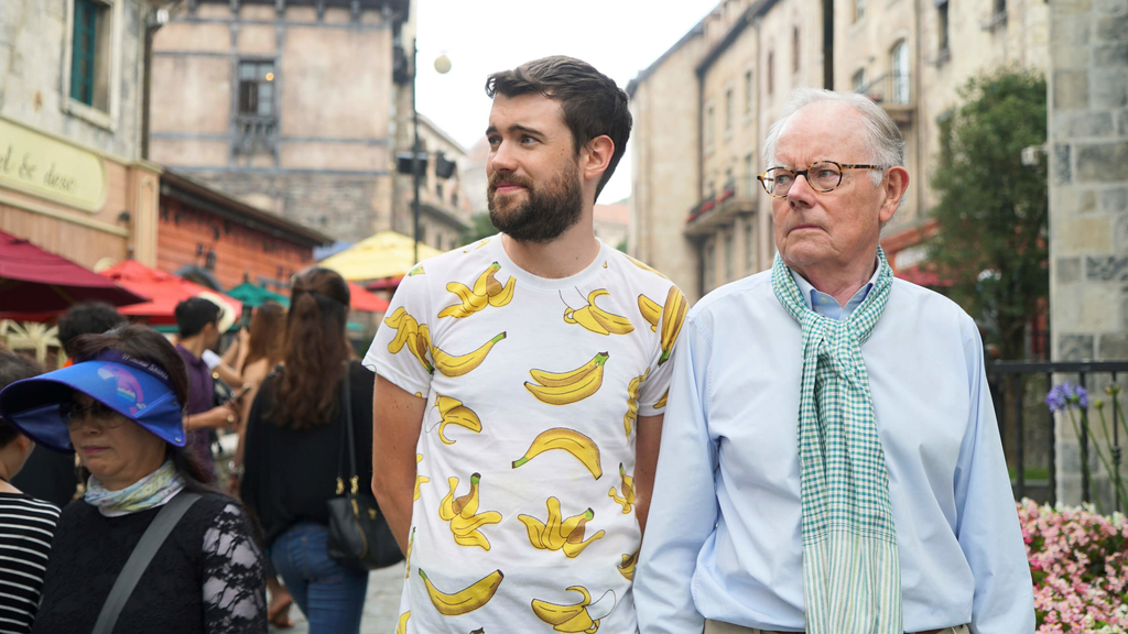 two people somewhere in south east aisan counties from the scene of Jack Whitehall travels with my father