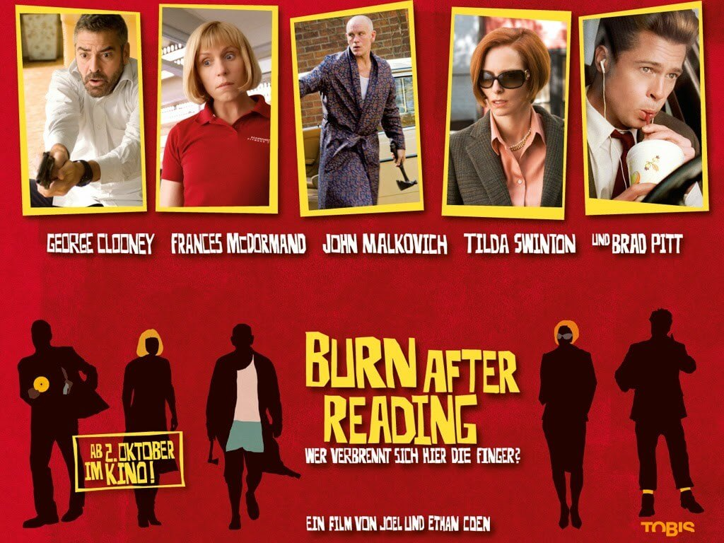 the poster of burn after reading