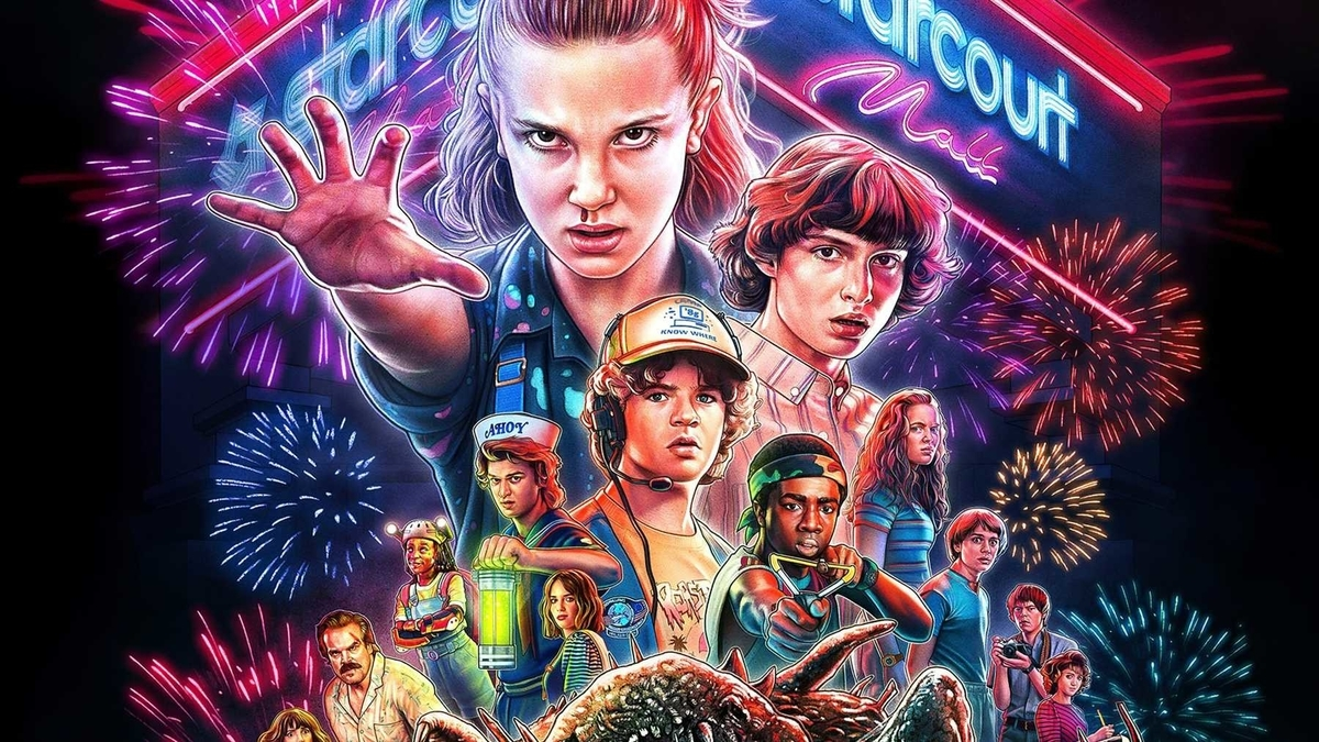 poster of strangerthings 3 and painting version