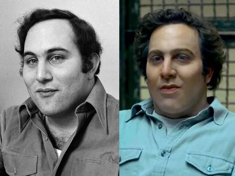 comparing betwenn real Berkowitz and Berkowitz from tv show mindhunter