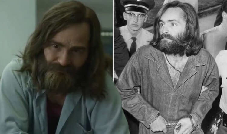 compare between real manson and manson from the scene of tv show mindhunter season 2