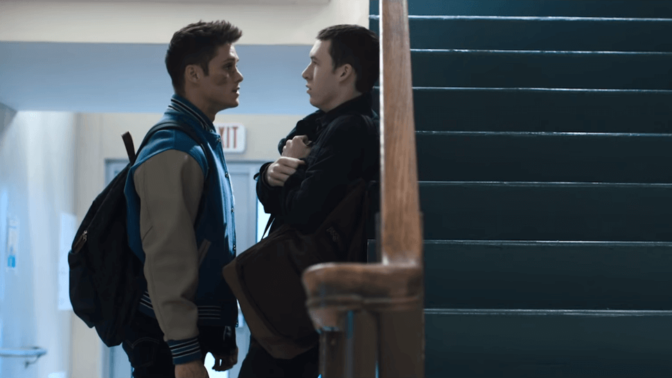 monty and tyler talking something scene from tv show 13 reasons why seasons3