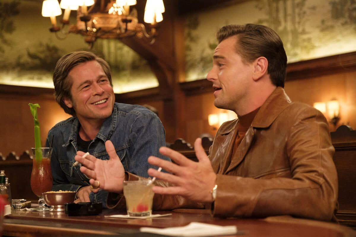dalton and booth talking something in the bar from the moive once upon a time in hollywood