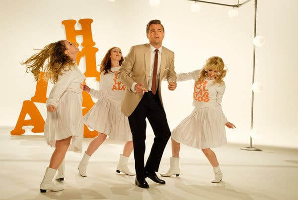 Rick Dalton dancing for shooting commercial from the moive once upon a time in hollywood