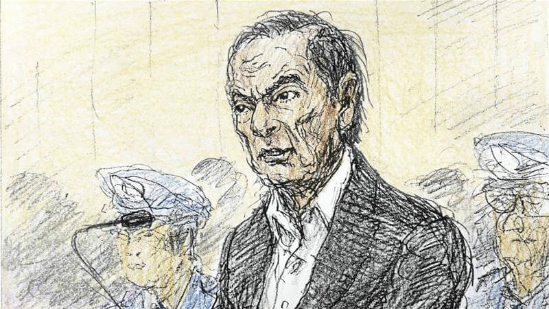 Carlos Ghosn in the court