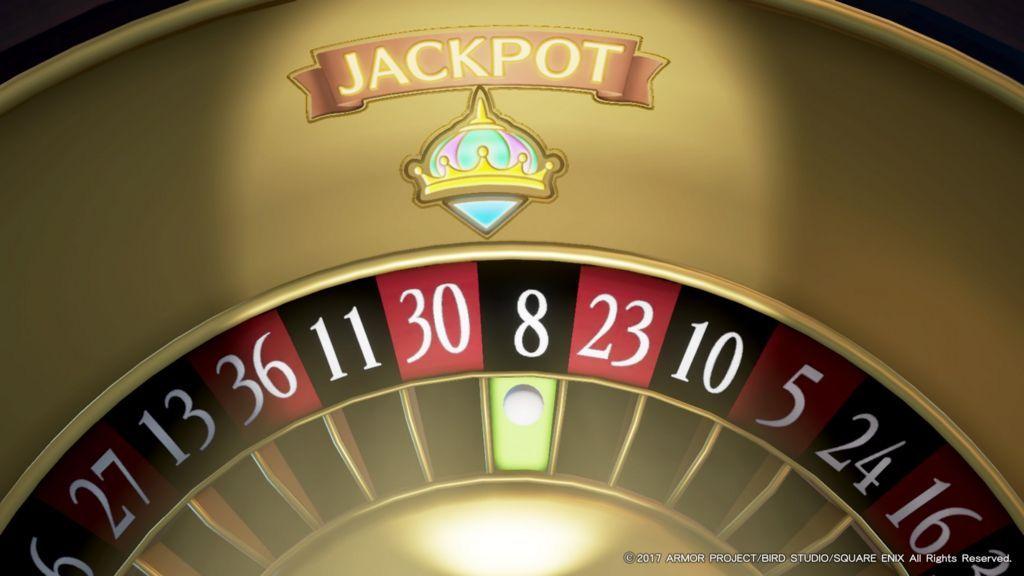 ドラクエ11のカジノのルーレットでジャックポットが当たる寸前の瞬間