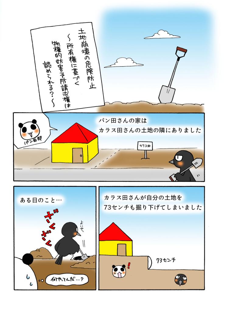 『土地崩壊の危険防止』解説マンガ1ページ目