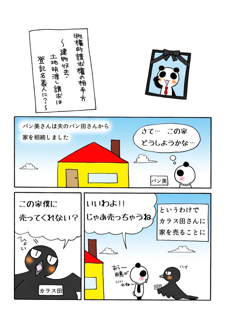 『物権的請求権の相手方』解説マンガ1ページ目