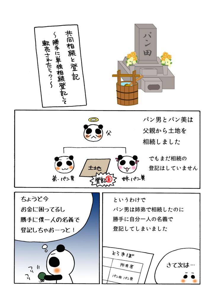 『共同相続と登記』解説マンガ1ページ目