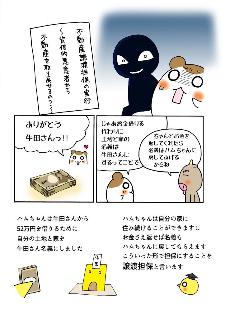 『不動産譲渡担保の実行』解説マンガ1ページ目
