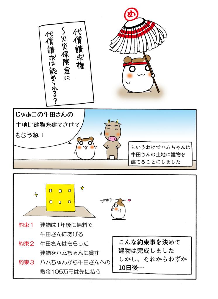 『代償請求権』解説マンガ1ページ目