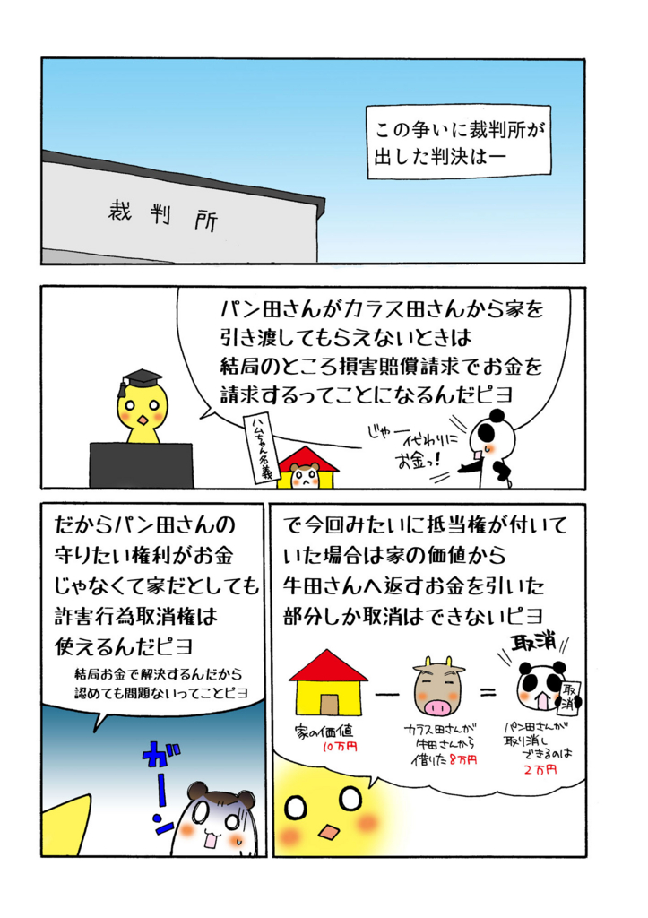 『特定物債権と詐害行為取消権』解説マンガ1ページ目