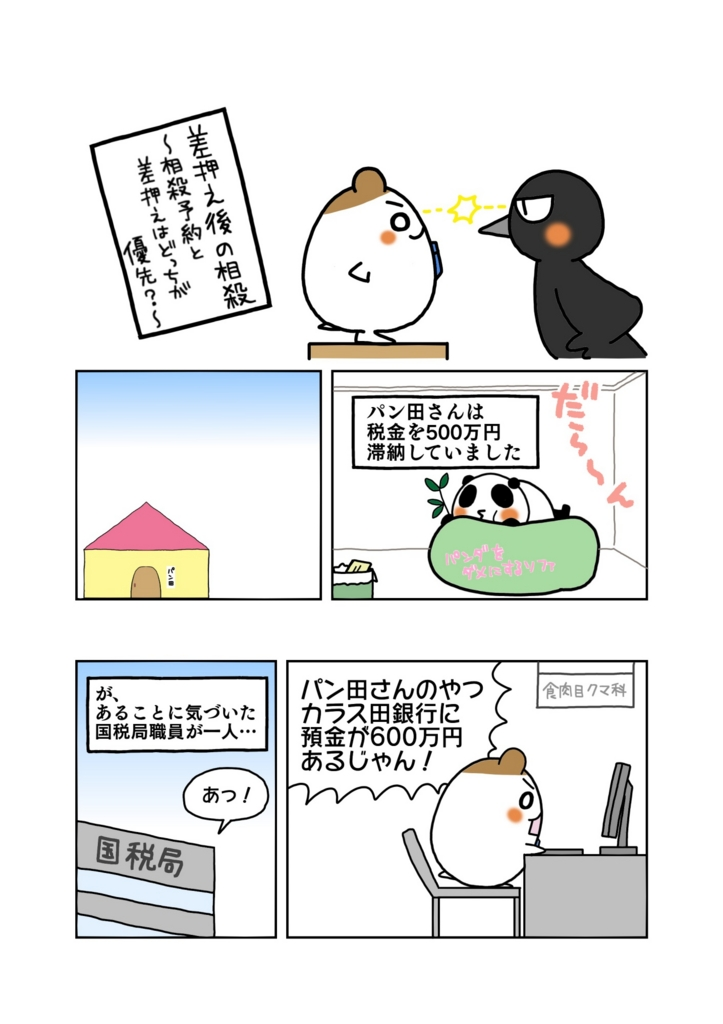 『差押え後の相殺』マンガ1ページ目