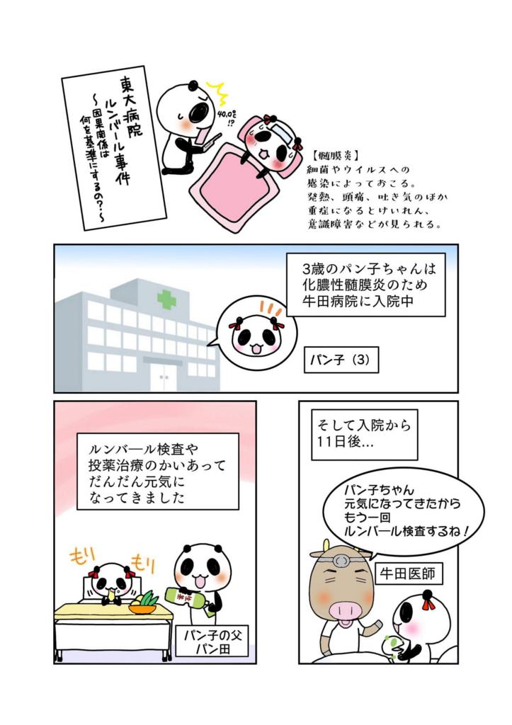『東大病院ルンバール事件』解説マンガ1ページ目