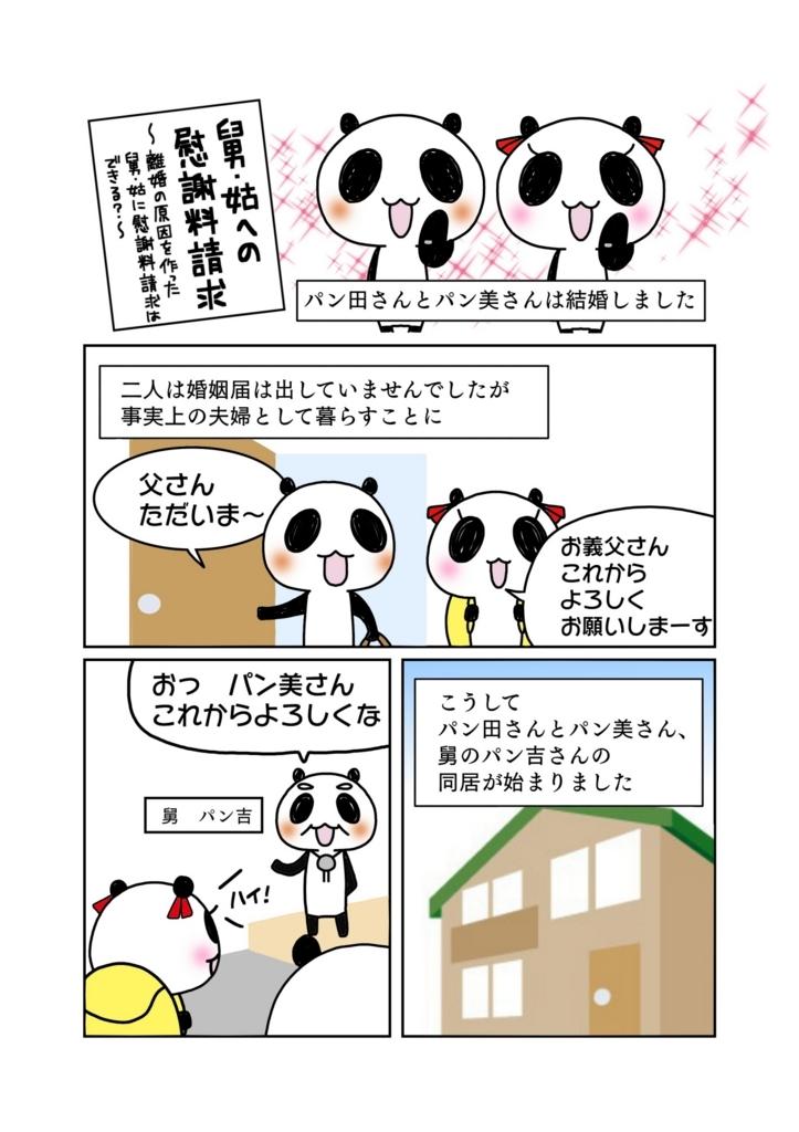 『舅・姑への慰謝料請求』解説マンガ1ページ目