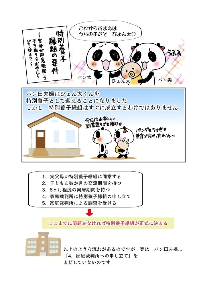 『特別養子縁組の要件』解説マンガ1ページ