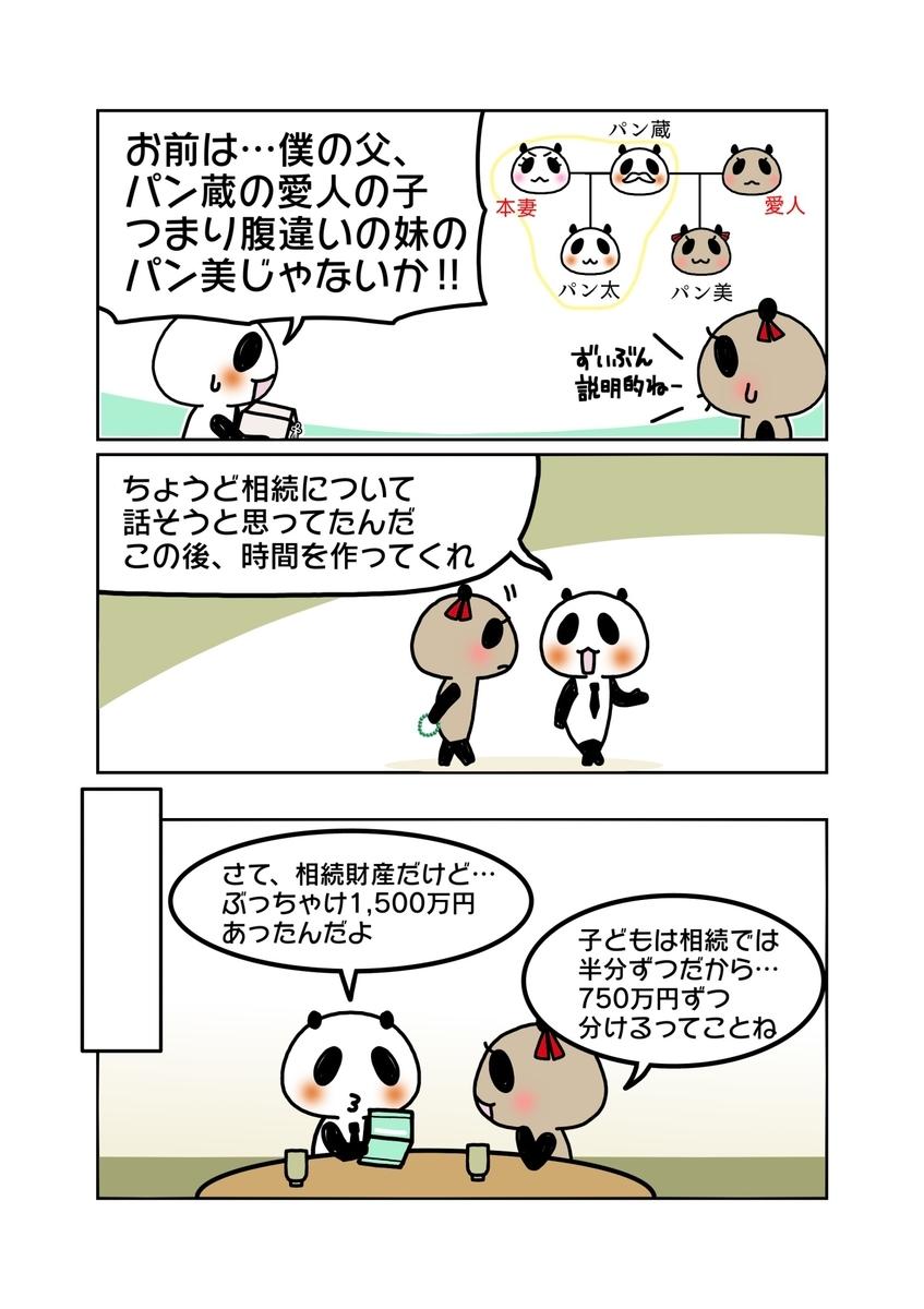 『非嫡出子の法定相続分』解説マンガ2ページ目