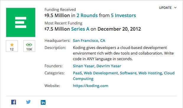 "alt=""Koding funding received"""
