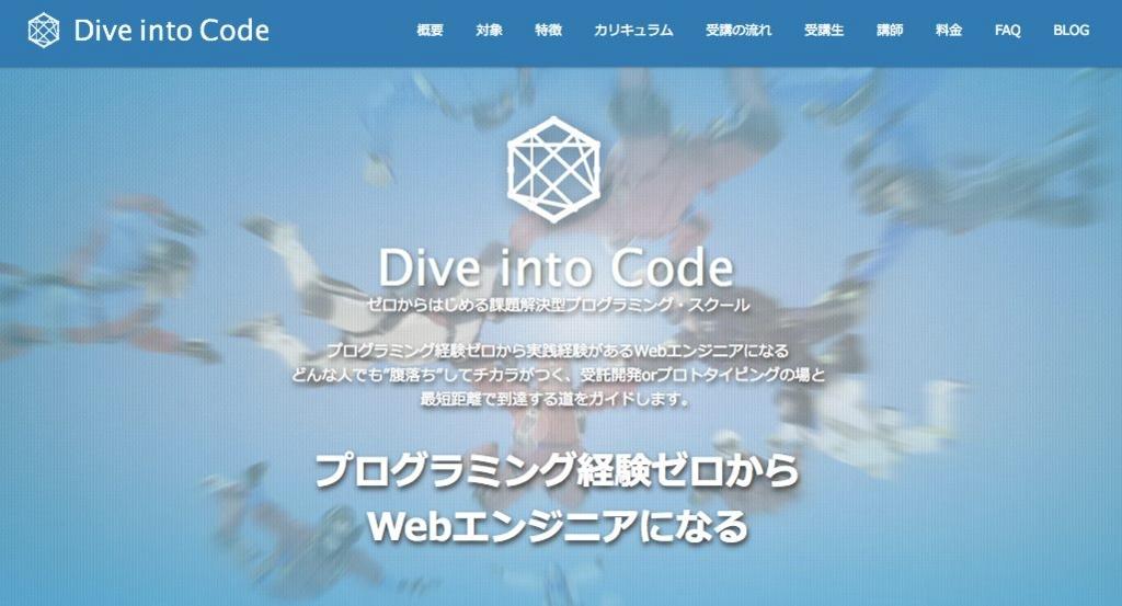 Dive into Codeのサイトイメージ