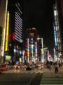 【銀座】夜の街並み / 復興バー銀座店で日経新聞の取材を受けました