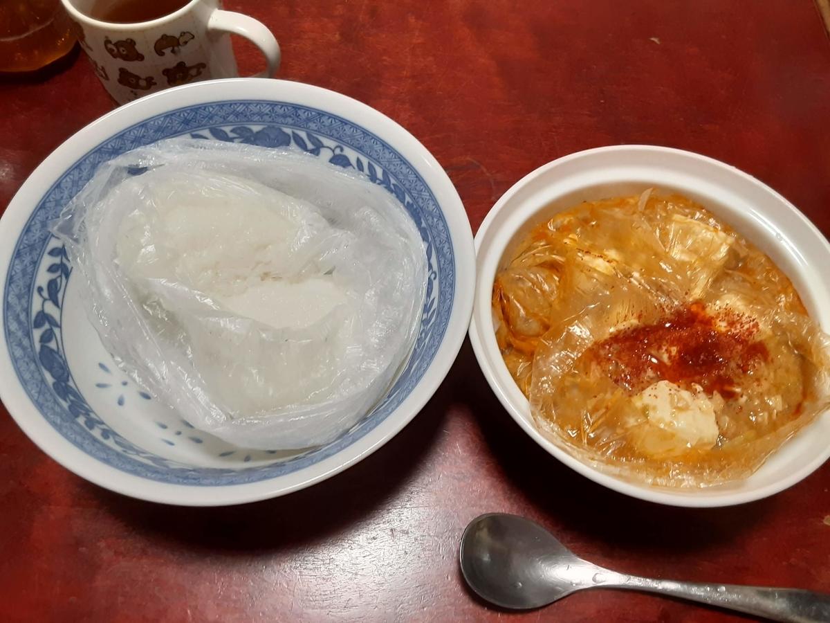 麻婆丼(調理例)