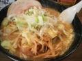 市川「いりゅう」の野菜盛り味噌ラーメン
