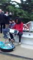 グエル公園広場でスティールパン演奏してた黒人