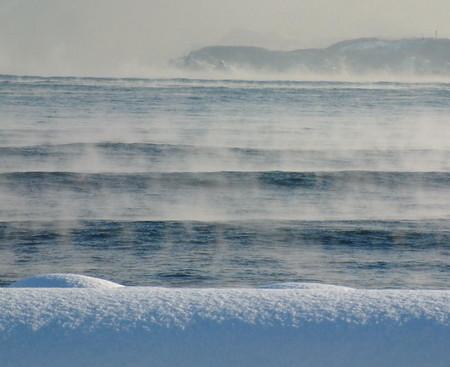 余市の浜の毛嵐