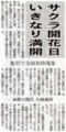 [小樽の花]2012年5月3日付道新