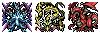 [ドット絵][世界樹の迷宮]三竜@世界樹の迷宮