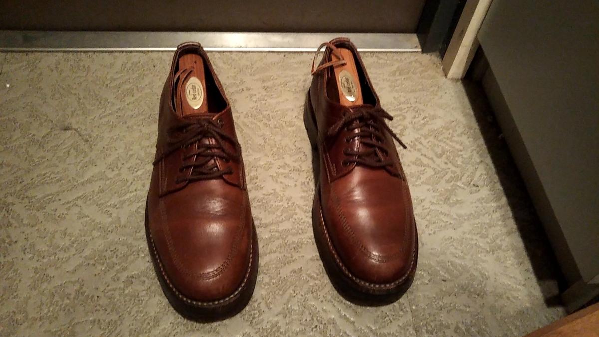 シューキーパーを入れた靴 ピストレロ オフィサー
