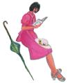 [ファッション]本を読む少女