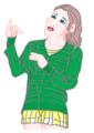 緑色のセーター