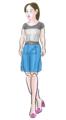[ファッション]Tシャツ&スカート