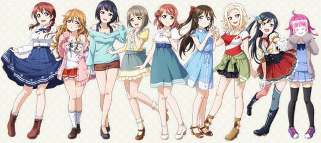 虹ヶ咲学園スクールアイドル同好会の9人