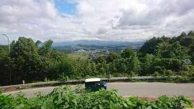 八木山峠の展望台