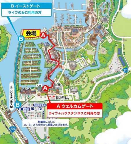 ライブ会場のマップ