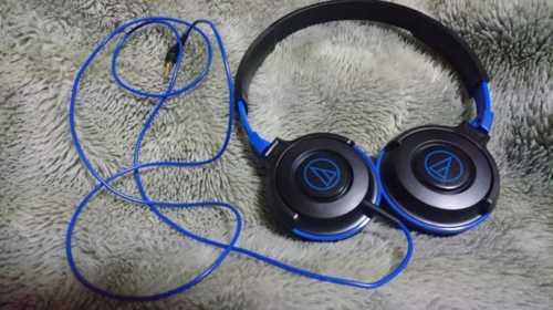 購入したATH-S100のブラックブルー