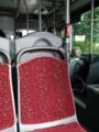 バスの中もワインレッド